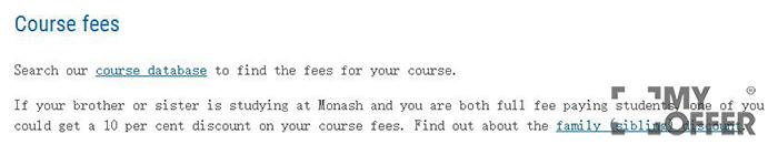 蒙纳士大学学费